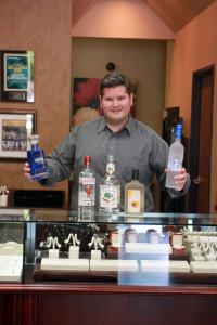 Scott Mackey with his booze