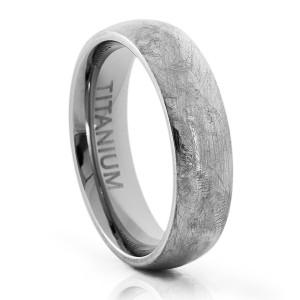 scratched titanium wedding band