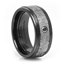 Black Zirconium and Meteorite Ring